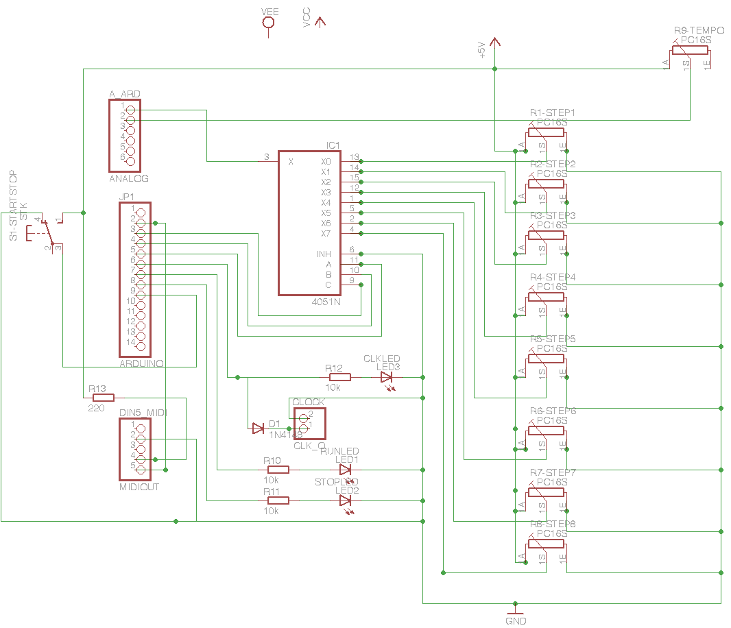 My First Eagle Schematic Glacial Communications Schematics Arduino Sequencer